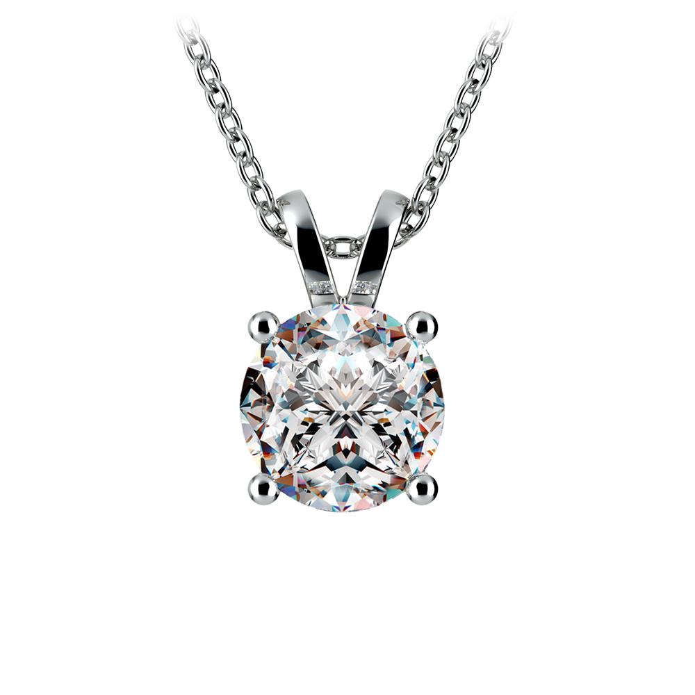 Round Diamond Solitaire Pendant in Platinum (2 ctw)