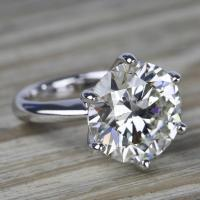 7 Carat Round Diamond Solitaire Engagement Ring