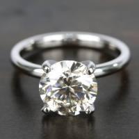 Classic M-Color Diamond Solitaire Ring (2.50 Carat)
