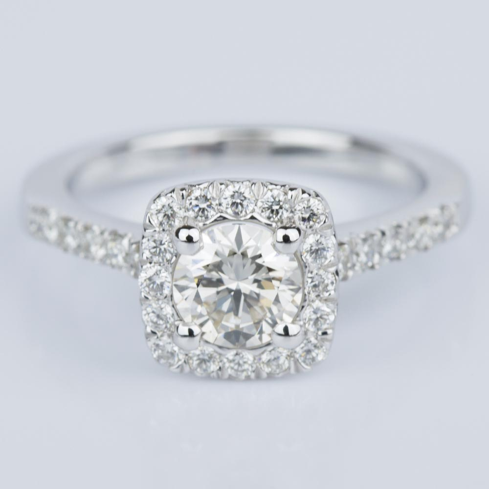Custom Cushion Shape Diamond Engagement Ring 052 Ct