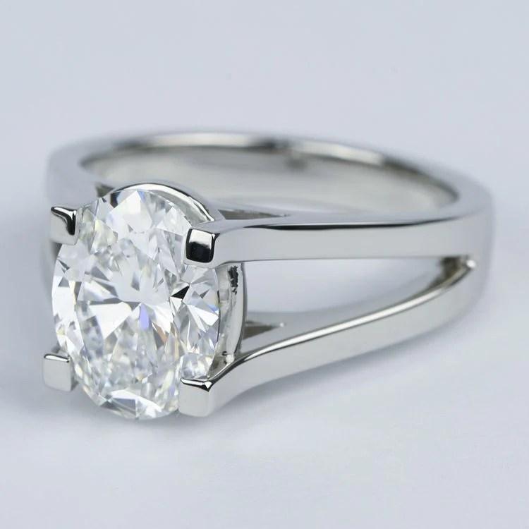 3 Carat Oval Diamond With Split Shank Engagement Ring