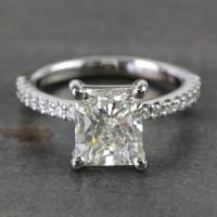 Ideal Radiant Scallop Diamond Engagement Ring (2 Carat)