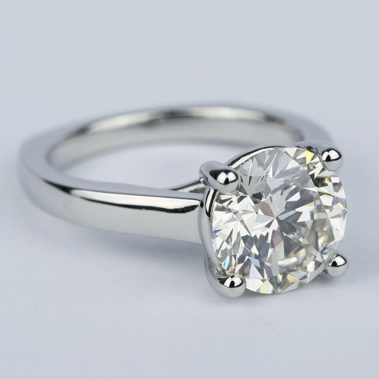 Rocker Trellis Diamond Engagement Ring in Platinum (3 Carat)
