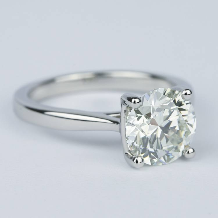 3 Carat Taper Solitaire Engagement Ring