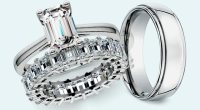 Emerald Cut Diamond Wedding Sets