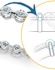 Diamond bar channel settings also setting types popular of ring rh brilliance