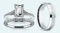 Emerald Cut Diamond Wedding Sets