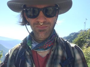 Sasha hiking at Goat Rocks