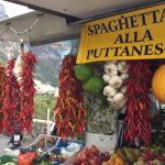 An open air market in Italy