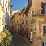 An Italian street in a walled city