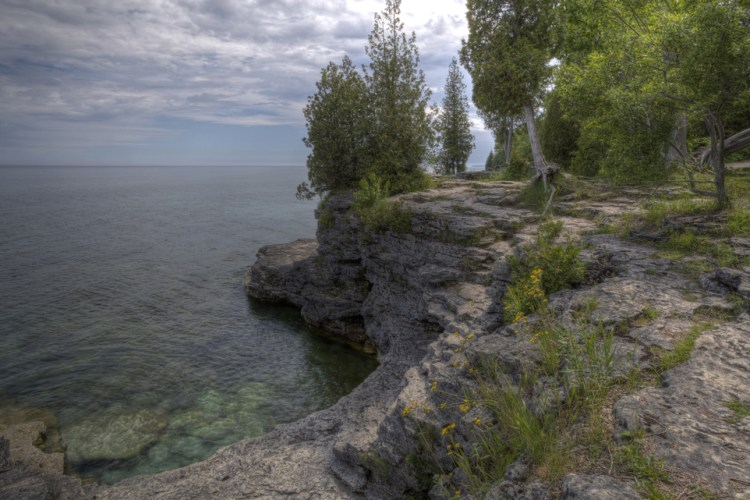 Cave Point Park in Door County, Wisconsin