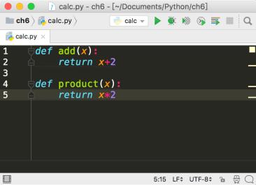 PyCharm define function