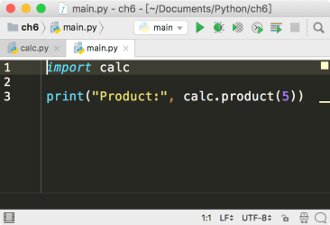 PyCharm define main