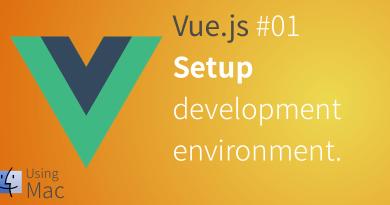 Vuejs setup development environment