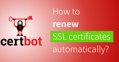 Renew SSL certificates automatically by Certbot.