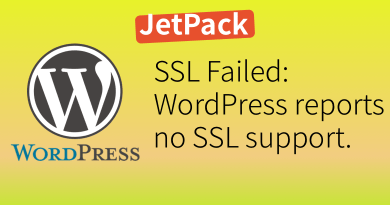Wordpress SSL Failed Reports No SSL Support