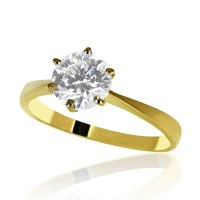 2 1/2 Carat H/SI1 Solitaire Diamond Engagement Ring Round ...