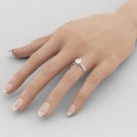 D VVS1 Engagement Ring 2 Carat Round Cut 14k White Gold ...