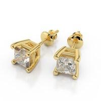 Diamond Earrings: 1 2 Carat Diamond Stud Earrings Yellow Gold