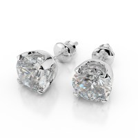 nataliacerri: Ct G VS2 Round Cut Diamond Stud Earrings 1/2