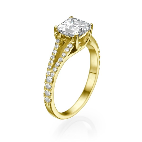 2 Carat Princess Cut Diamond Engagement Ring