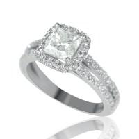 2 Carat Solitaire Princess Cut Diamond Engagement Ring G