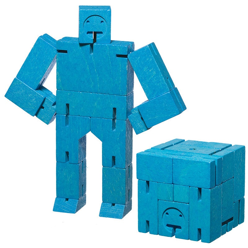 Cubebot In Colors 3d Wooden Brainteaser Puzzle