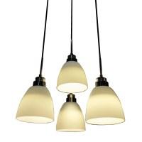 4 Light LED Hanging Pendant Lamp In White Shade l ...