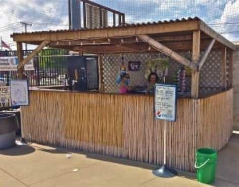 Little draft beer shack at Power Park