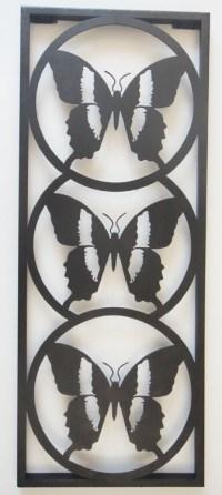 Metal Wall Art - Butterfly Silhouette Trio