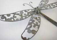 Metal Wall Art Dragonfly - Elitflat