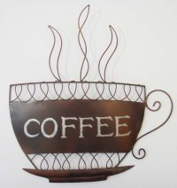 Metal Wall Art - Traditional Coffee Cup