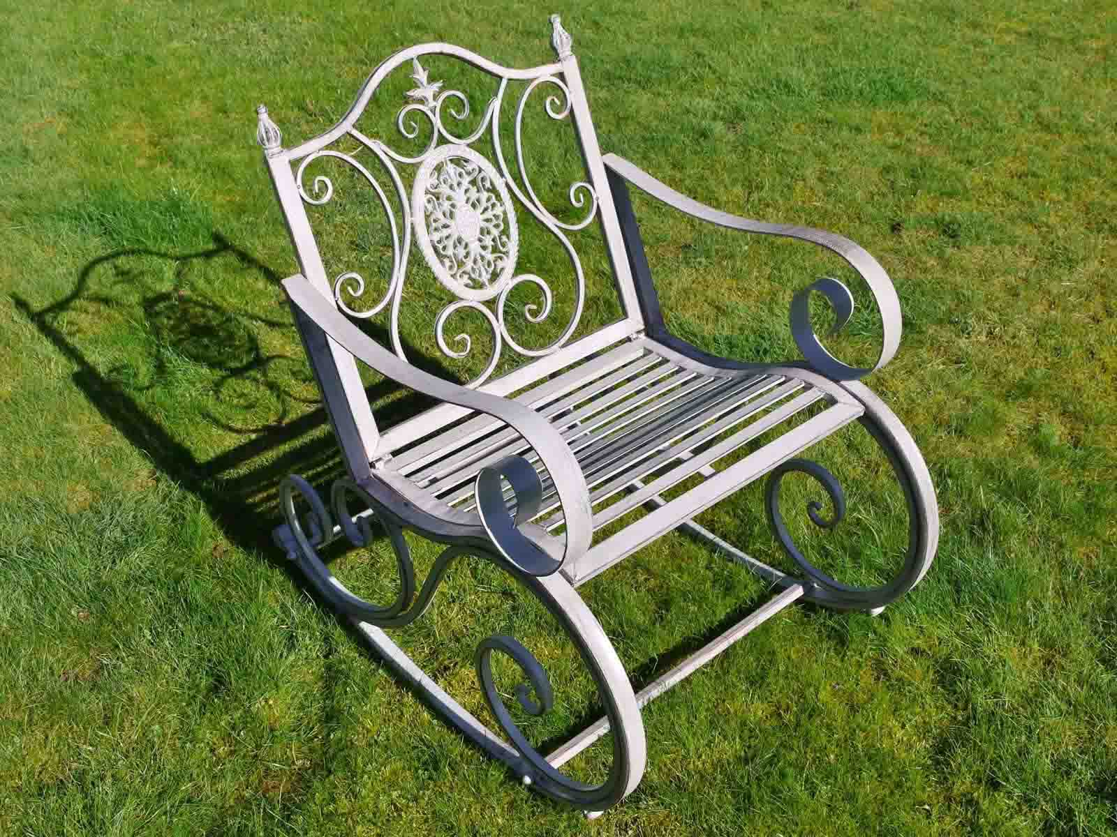 old fashioned rocking chairs chair cover rentals daytona beach fl antique grey metal