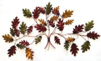 Metal Wall Art - Autumn Leaf Branch