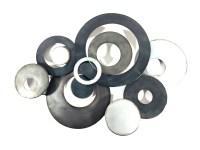 Metal Wall Art - Charcoal Linked Circle Disc Abstract
