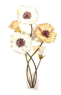 Metal Wall Art - Rustic Blooming Flower Bunch