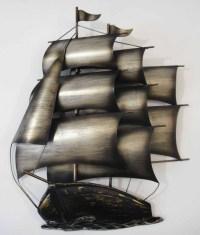 Contemporary Metal Wall Art Or Sculpture Sailing Tall Ship ...