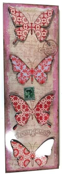 Metal Wall Art - Vintage Butterfly Plinth