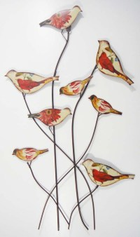 Metal Wall Art - Vintage Shabby Chic Flock Of Birds