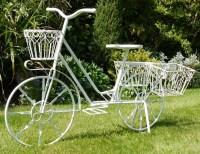 Shabby Chic Garden Bicycle Flower Planter