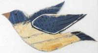 Wood Wall Art - Shabby Chic Flying Bird