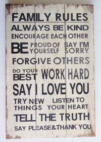 Contemporary Wood Wall Art Sign - Message Plaque - Family ...