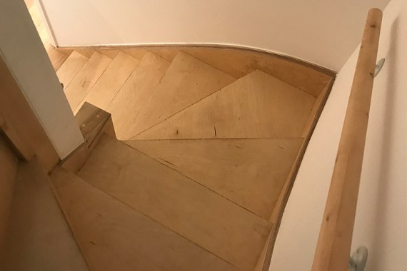 plywood stairs, detail