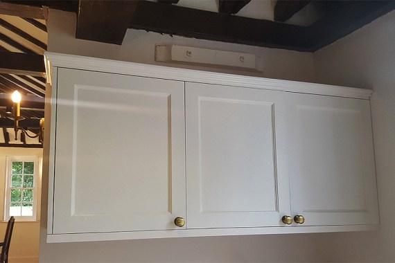 Deluxe bespoke kitchen furniture. Cabinet detail.