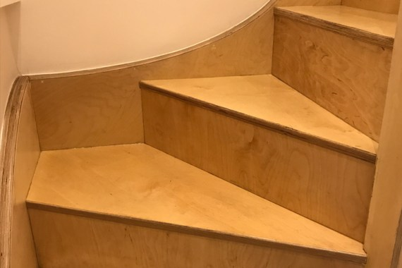 birch plywood interior stairs