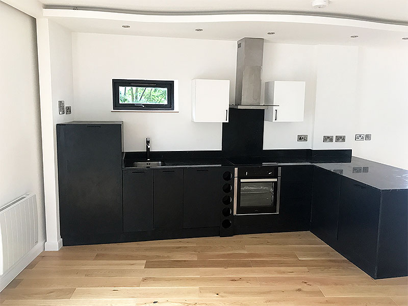 Bespoke Kitchen (black) - Brilliart Ltd. London