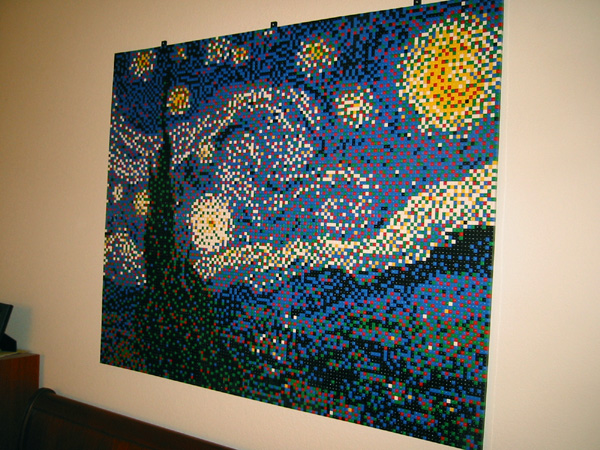 Starry Night LEGO Mosaic
