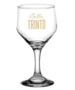 Taça de Vidro Personalizada Bistrô para Vinho Tinto e Branco 260ml