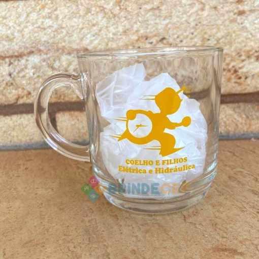 Canecas de Café de Vidro Modelo Aspen 300ml Personalizadas para Brindes e Eventos
