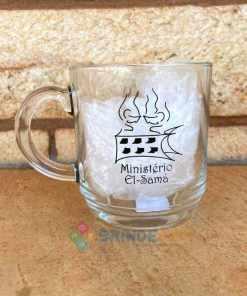 Canecas de Café de Vidro Modelo Aspen 300ml Personalizadas para Brindes e Eventos 8